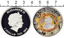 Изображение Монеты Фиджи 1 доллар 2012 Посеребрение Proof Цифровая  печать.  Е