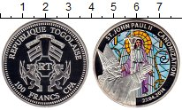 Изображение Монеты Того 100 франков 2014 Посеребрение Proof