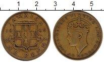 Изображение Монеты Ямайка 1 пенни 1945 Латунь XF-