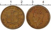 Изображение Монеты Ямайка 1/2 пенни 1942 Латунь VF