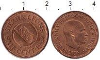 Изображение Монеты Сьерра-Леоне 1/2 цента 1964 Бронза UNC-