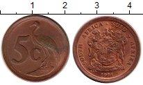 Изображение Монеты ЮАР 5 центов 1991 Бронза XF