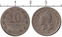 Изображение Монеты Южная Америка Аргентина 10 сентаво 1926 Медно-никель XF