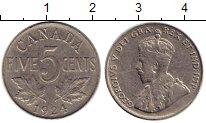 Изображение Монеты Северная Америка Канада 5 центов 1924 Медно-никель XF