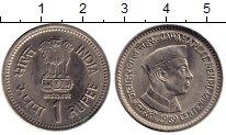 Изображение Монеты Азия Индия 1 рупия 1989 Медно-никель XF