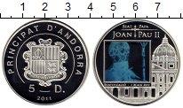 Изображение Монеты Андорра 5 динерс 2011 Серебро Proof