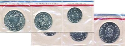 Изображение Наборы монет Франция Полинезия Без названия 1967 Медно-никель UNC