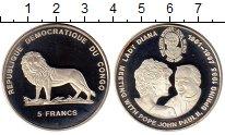 Изображение Монеты Африка Конго 5 франков 1997 Медно-никель Proof-