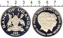 Изображение Монеты Уганда 100 шиллингов 1981 Серебро Proof-