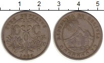 Изображение Монеты Южная Америка Боливия 10 сентаво 1899 Медно-никель XF