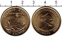 Изображение Мелочь Европа Дания 20 крон 2009 Латунь UNC