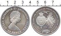 Изображение Монеты Остров Вознесения 25 пенсов 1981 Серебро UNC