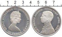 Изображение Монеты Остров Вознесения 50 пенсов 1984 Серебро UNC