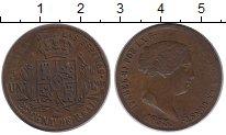 Изображение Монеты Испания 25 сентим 1855 Медь XF