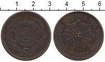 Изображение Монеты Южная Америка Уругвай 2 сентесимо 1869 Медь XF