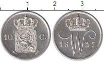 Изображение Монеты Европа Нидерланды 10 центов 1827 Серебро XF+