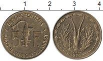 Изображение Монеты Западная Африка 5 франков 1976 Латунь UNC-