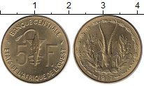 Изображение Монеты Западная Африка 5 франков 1977 Латунь UNC-