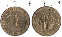Изображение Монеты Западная Африка 5 франков 1978 Латунь UNC-