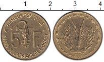 Изображение Монеты Западная Африка 5 франков 1986 Латунь UNC-