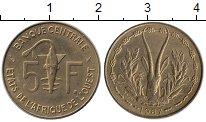 Изображение Монеты Западная Африка 5 франков 1987 Латунь UNC-
