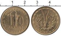 Изображение Монеты Западная Африка 10 франков 1971 Латунь UNC- Золотая гиря народа