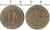 Изображение Монеты Западная Африка 10 франков 1975 Латунь UNC-