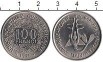 Изображение Монеты Великобритания Западная Африка 100 франков 1975 Медно-никель UNC-