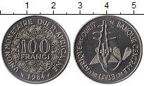 Изображение Монеты Западная Африка 100 франков 1984 Медно-никель UNC- Золотая гиря народа