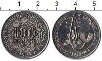 Изображение Монеты Западная Африка 100 франков 1992 Медно-никель UNC- Золотая гиря народа