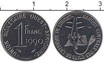 Изображение Монеты Западная Африка 1 франк 1990 Медно-никель UNC- Золотая гиря народа