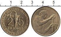Изображение Монеты Западная Африка 25 франков 1997 Латунь UNC-