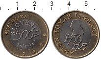 Изображение Монеты Европа Словения 500 толаров 2006 Биметалл UNC-