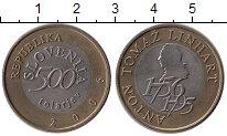Изображение Монеты Словения 500 толаров 2006 Биметалл UNC-