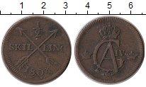 Изображение Монеты Европа Швеция 1/2 скиллинга 1803 Медь VF
