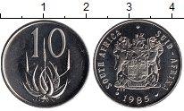 Изображение Монеты ЮАР 10 центов 1985 Медно-никель Proof-
