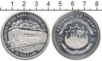 Изображение Монеты Африка Либерия 20 долларов 2001 Серебро Proof-
