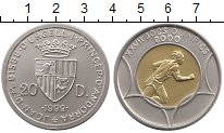 Изображение Монеты Андорра 20 динерс 1999 Серебро UNC