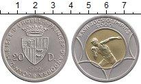 Изображение Монеты Европа Андорра 20 динерс 1999 Биметалл UNC