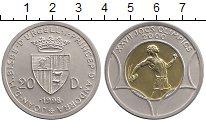 Изображение Монеты Андорра 20 динерс 1998 Биметалл UNC