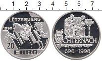 Изображение Монеты Люксембург 20 евро 1998 Серебро Proof 1300 лет Эхтернах