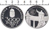 Изображение Монеты Венгрия 3000 форинтов 1999 Серебро Proof-