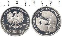 Изображение Монеты Польша 20000 злотых 1989 Серебро Proof Чемпионат мира по фу