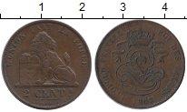 Изображение Монеты Бельгия 2 сантима 1863 Медь XF