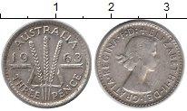 Изображение Монеты Австралия 3 пенса 1963 Серебро XF Елизавета II