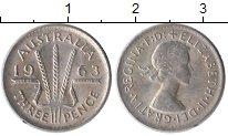Изображение Монеты Австралия 3 пенса 1963 Серебро XF+