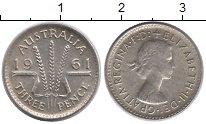 Изображение Монеты Австралия 3 пенса 1961 Серебро XF