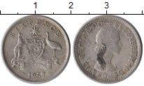 Изображение Монеты Австралия 6 пенсов 1957 Серебро XF