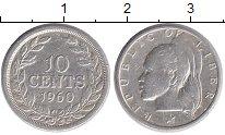 Изображение Монеты Африка Либерия 10 центов 1960 Серебро XF