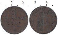 Изображение Монеты Германия Вальдек-Пирмонт 3 пфеннига 1867 Медь XF